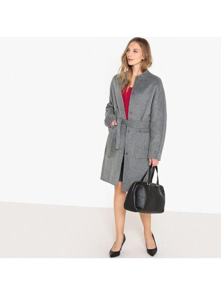 Пальто без воротника на кнопках La Redoute Collections