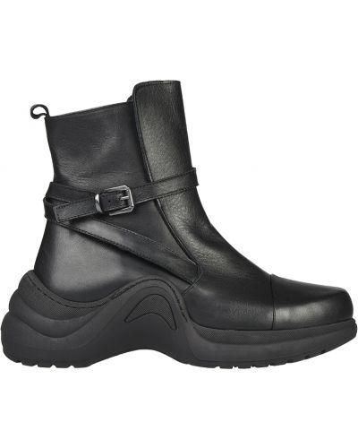 Кожаные ботинки - черные L'estrosa