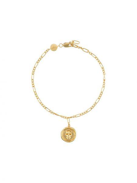 Złota bransoletka ze złota pozłacana Northskull