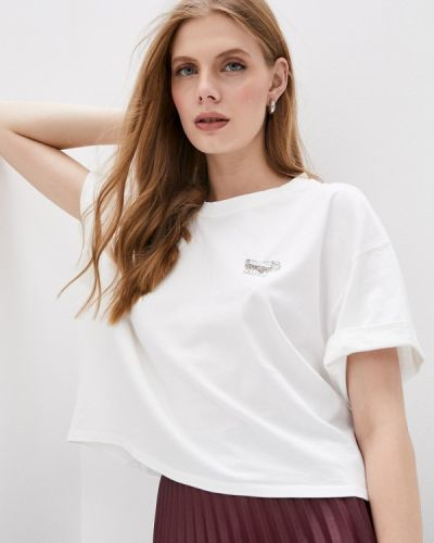 Белая футболка с короткими рукавами The Kooples