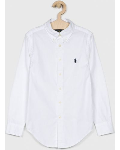 Biała koszula bawełniana zapinane na guziki Polo Ralph Lauren