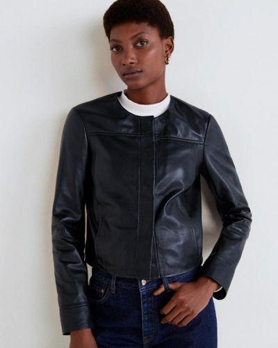 Кожаная куртка черная весенняя Mango