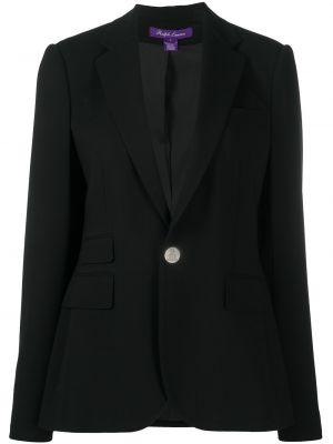 Шерстяной черный удлиненный пиджак с подкладкой Ralph Lauren Collection