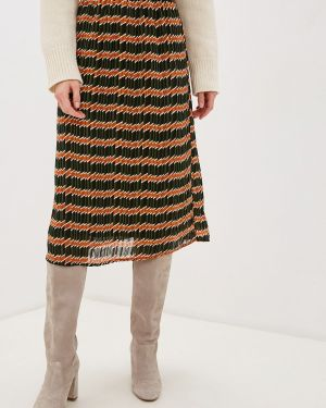 Плиссированная юбка зеленый Only