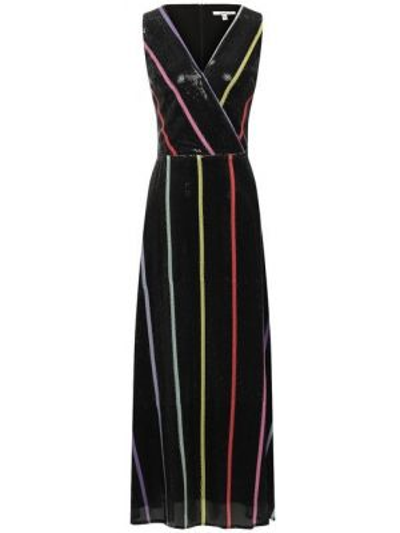 Платье миди с пайетками с запахом Olivia Rubin