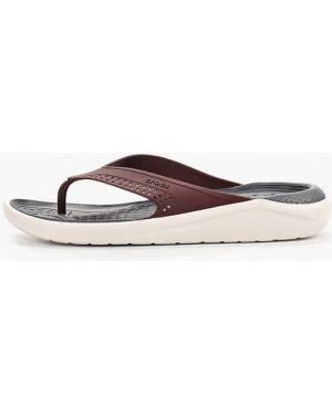 Сабо пляжные красный Crocs
