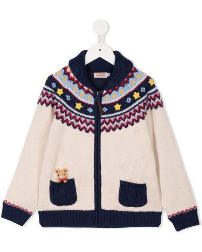 Куртка домашний белая Miki House