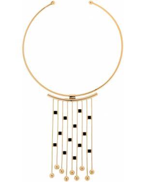 Czarny złoty naszyjnik pozłacany Natama Design