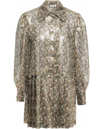 Шелковое платье мини Paul & Joe