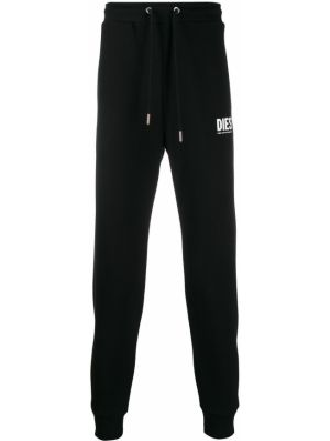 Хлопковые спортивные брюки - черные Diesel