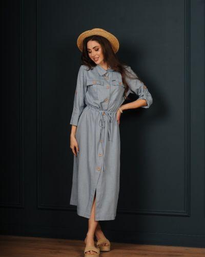 Льняное платье - голубое Jaded London