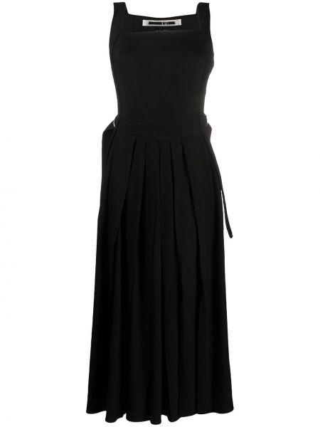 Платье с поясом плиссированное со складками Mcq Alexander Mcqueen