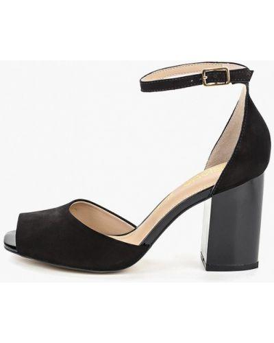 Босоножки черные на каблуке Indiana