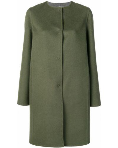 Однобортное пальто с капюшоном на пуговицах Manzoni 24