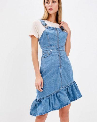 Синее платье джинсовое Lost Ink.