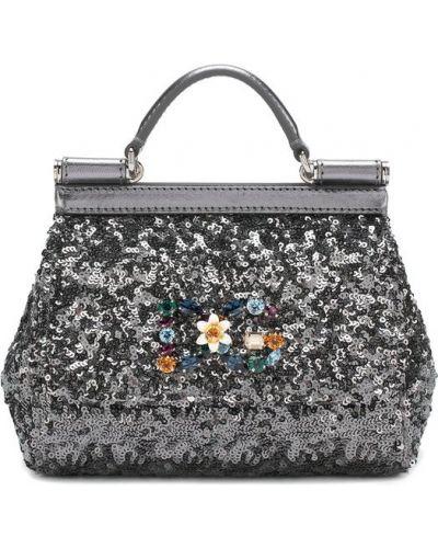 Кожаный сумка маленькая вечерняя Dolce & Gabbana