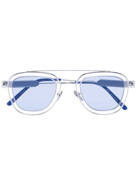 Niebieskie okulary srebrne Calvin Klein 205w39nyc