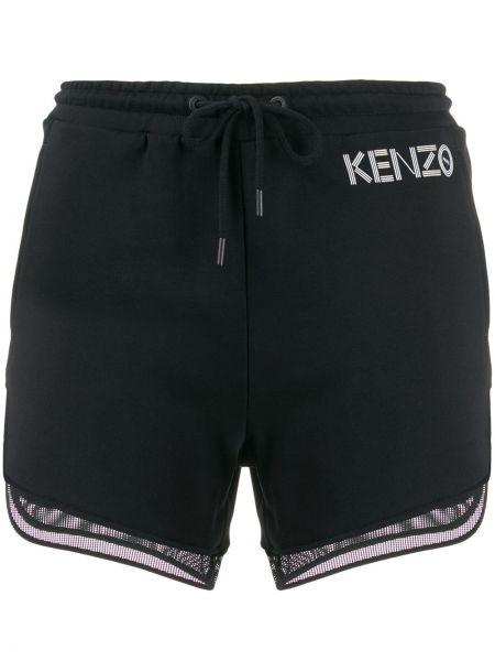 Шорты черные с карманами Kenzo