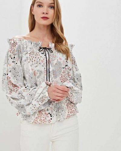 Блузка с открытыми плечами белая весенний Tutto Bene