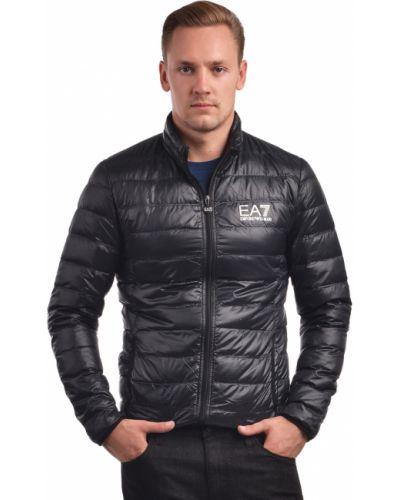 Куртка с перьями - черная Ea7 Emporio Armani