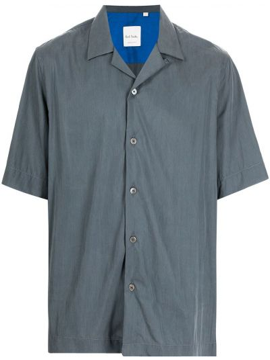 Серая рубашка короткая Paul Smith