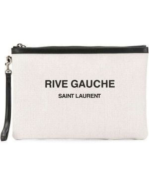 Kopertówka skórzana - biała Saint Laurent