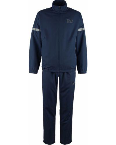 Синий костюмный спортивный костюм Ea7