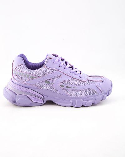 Фиолетовые кожаные ботинки Spagna