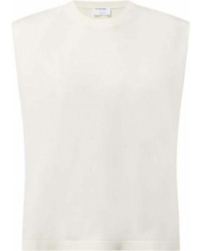 Biała kamizelka krótki rękaw z wiskozy Designers Remix