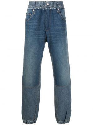 Klasyczne niebieskie jeansy skorzane Ambush