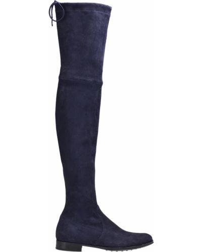 Ботфорты на каблуке кожаные замшевые Mascaro