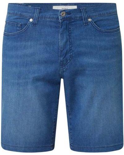 Niebieskie szorty jeansowe bawełniane Brax