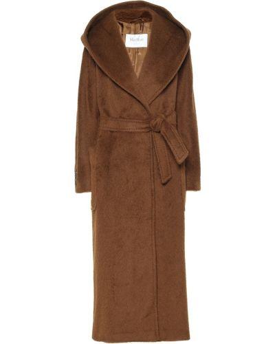 Классическое коричневое шерстяное пальто классическое Max Mara