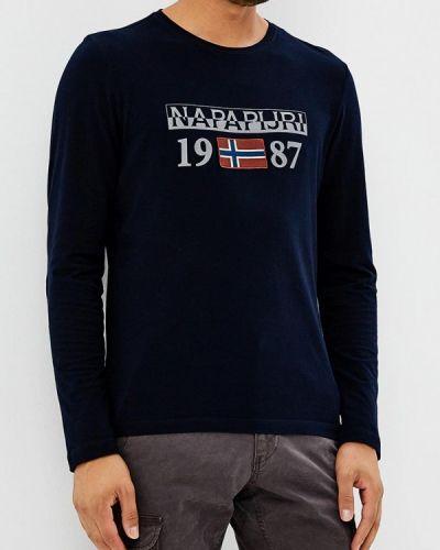 Синий лонгслив Napapijri