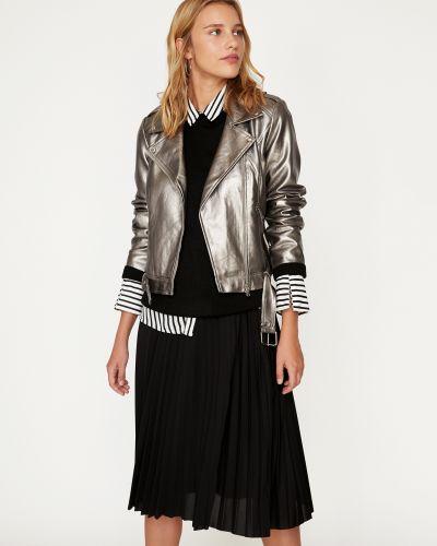 Кожаная куртка - серебряная Koton
