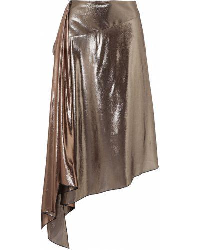 Spódnica midi asymetryczna z jedwabiu Givenchy