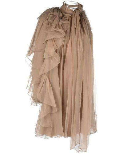 Beżowa sukienka Alberta Ferretti