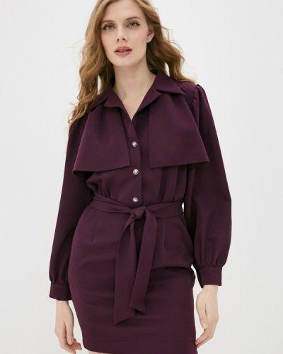 Прямое фиолетовое платье Adzhedo