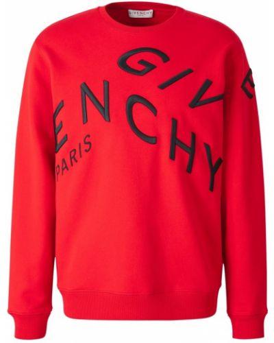 Prążkowana czerwona bluza bawełniana Givenchy