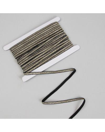 Резинка для волос на резинке золотая арт узор
