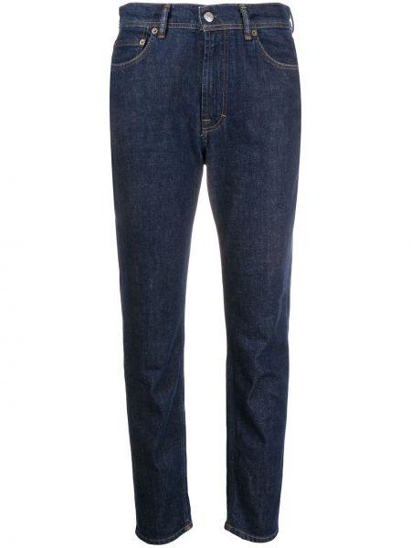 Bawełna niebieski klasyczny jeansy z kieszeniami z łatami Acne Studios