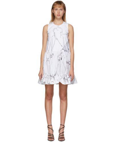 Платье на пуговицах из поплина Alexander Mcqueen
