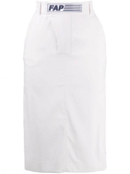 Прямая юбка миди с поясом в рубчик с рукавом 3/4 Filles A Papa