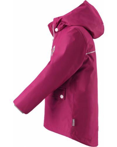 Утепленная куртка с рисунком розовая Reima