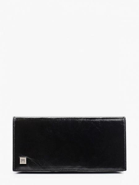 Кожаный черный кошелек Eleganzza