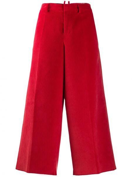 Красные укороченные брюки с поясом Dsquared2