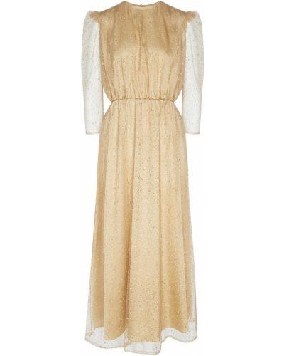Приталенное платье миди - золотое A La Russe