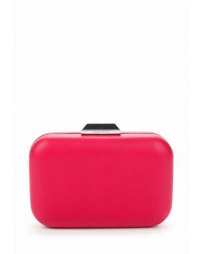Розовый кожаный клатч Olga Berg