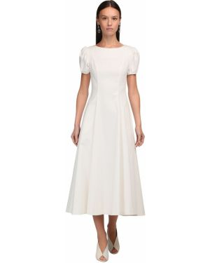 Приталенное платье миди на резинке с манжетами Luisa Beccaria