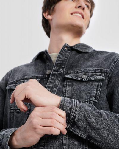 Хлопковый серый пиджак с карманами Ostin